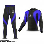 Mens Compression base Layer suite Top Collection - Quick Dry Full Sleeve Gym Dry Sweat Wicking ROXX Sports