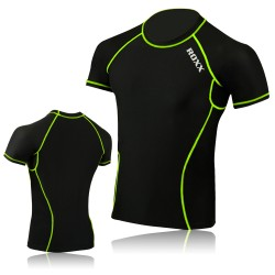 Mens Running Top Collection - Quick Dry Short Sleeve Gym Dry Sweat Wicking ROXX Sports