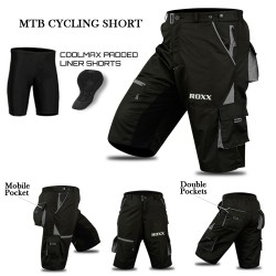 Mens MTB Cycling Shorts Cool-max® Padding Outdoor Cycle Tight Shorts ROXX Sports