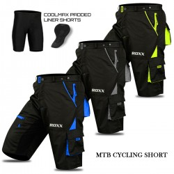 Mens Cycling MTB Shorts Cool-max® Padding Outdoor Cycle Tight Shorts ROXX Sports