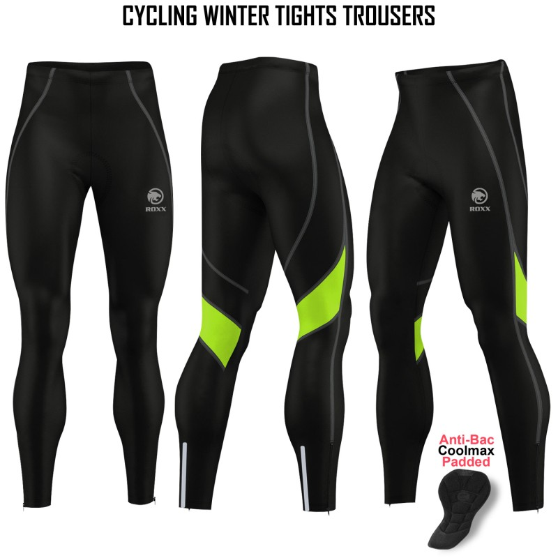 Mens Cycling Super Roubaix Bib Tight Winter Cycling Thermal Tights Padded Pants