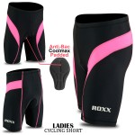 ROXX Women's Quality Cycling Shorts Coolmax® Padding Outdoor Cycle Tight Shorts